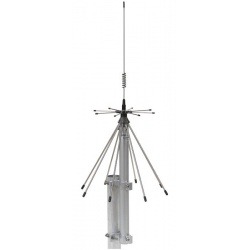 Antenne discone SIRIO SD 3000 N, large bande couvrant toutes