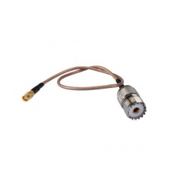 Adaptateur MCX UHF Femelle vers UHF Femelle. Cable coaxial