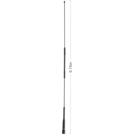 Antenne voiture 144-430Mhz AZ507R Diamond Slim Gainer Diamond Antenna Mobile DIAMOND-AZ507FXH-SOUPLE-475