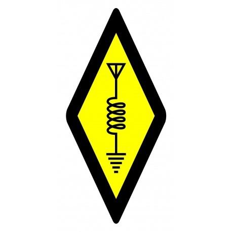 Autocollant symbole international radioamateur Passion Radio Autocollants AUTOCOLLANT-HAM-PETIT-487