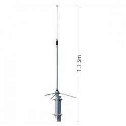 Antenne Diamond fixe 430-490MHz 6dB BC202 Diamond Antenna Fixe DIAMOND-BC202-537