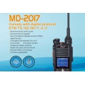 Talkie TYT MD-2017 Bi-bande VHF+UHF / FM+DMR / GPS (option)