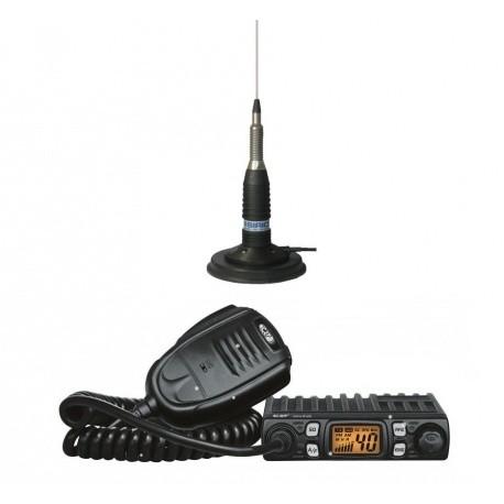 Pack CB voiture 27Mhz + Antenne magnétique CRT France Mobile VHF UHF PACK-CB-CRT-START-574
