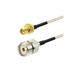Pigtail SMA Femelle UHF Femelle 15cm