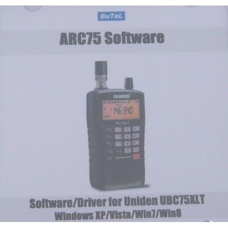 Logiciel sur CD pour UNIDEN UBC75XLT Uniden Accessoires UNIDEN-CD-ARC75-631