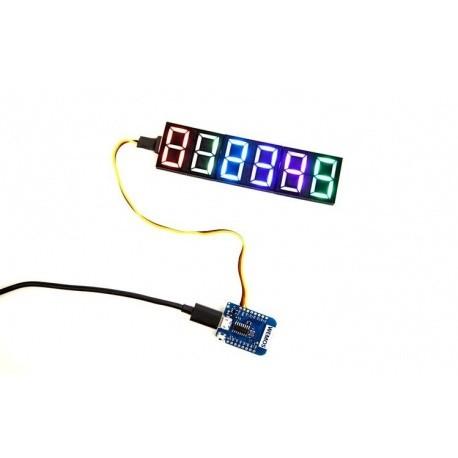 Afficheur à LED programmable 7-digit Neosegment Crowd Supply Goodies CROWD-NEOSEGMENT-686