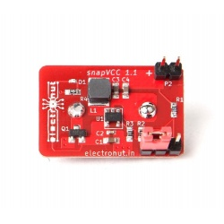 Alimentation 3.3 - 5 V avec une pile 9V : snapVCC Crowd Supply Goodies CROWD-SNAPVCC-688