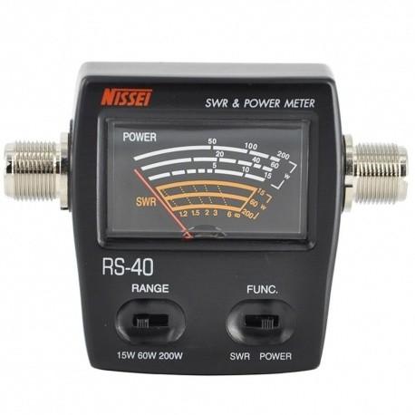 Nissei RS-40 SWR VHF-UHF Wattmètre 200W Nissei SWR-Power meter NISSEI-RS40-701