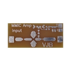 Carte circuit prototype MMIC pour coaxial
