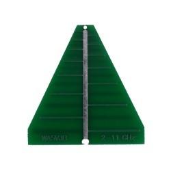 Antenne Log PCB 2-11GHz 6dBi WA5JVB Kent Electronics SHF WA5-ANT-LOG-LP11-776