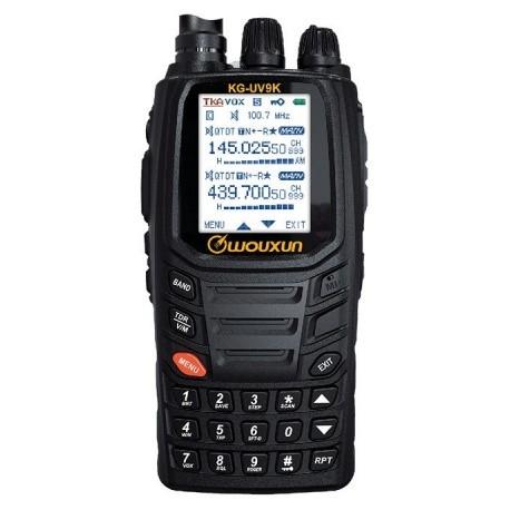 Talkie-Walkie Wouxun KG-UV9K 144/430Mhz 7 bandes RX + Transpondeur + 8.33kHz