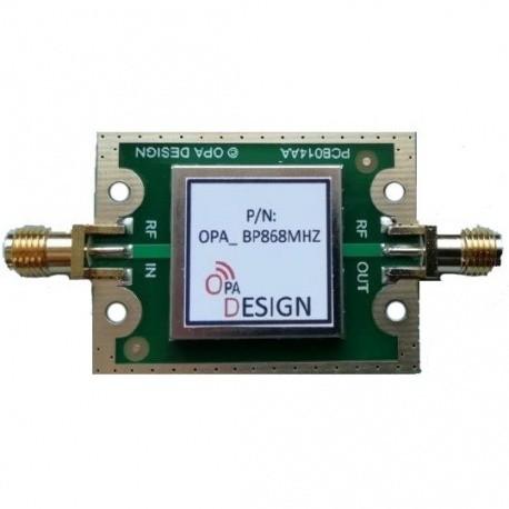Filtre SAW passe-bande 868 Mhz LoRa SigFox OPA Design ISM 433-868 Mhz FILTRE-SAW2-868-F1OPA-830