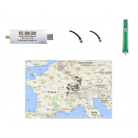 Pack Start ADS-B 1090 Mhz réception SDR portable