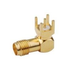 Connecteur PCB angle droit SMA Femelle à souder Passion Radio Câbles & Adaptateurs RF ADAPT-SMA-PCB1-56