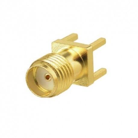 Connecteur PCB droit SMA Femelle à souder Passion Radio Câbles & Adaptateurs RF ADAPT-SMA-PCB2-837