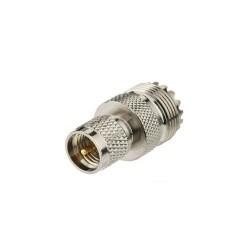 Adaptateur Mini-UHF Male UHF Femelle