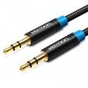 Câble audio Jack 3.5mm stéréo en coton tréssé Vention