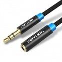 Câble rallonge audio Jack 3.5mm stéréo 3 et 5m Vention
