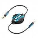 Câble audio plat Jack 3.5mm stéréo retractable Vention