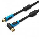 Cable coaxial TV 75 ohms 2 ou 5m avec connecteur TV
