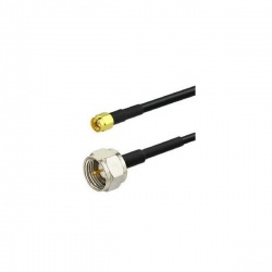 Câble coaxial F Male vers SMA Male RG58 1 à 10m Passion Radio Type F CABLE-COAX-F-M-SMA-1M-875