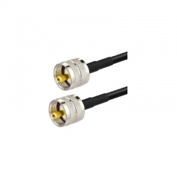 Cable coaxial faible perte UHF Male (PL-259) KSR195 Passion Radio UHF (PL) CABLE-COAXIAL-UHF-M-1M-876