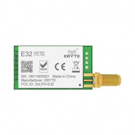 Module LoRa longue distance 433 Mhz 1W UART SX1278 EBYTE Module EBYTE-LORA-E32-433T30DT-890