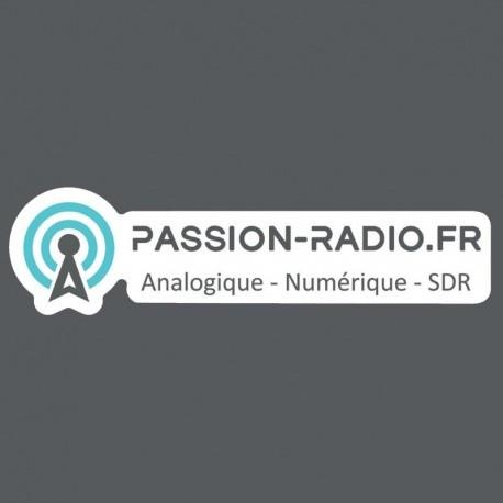 Autocollant découpé logo Passion-Radio.fr Passion Radio Autocollants AUTOCOLLANT-HAM3-920