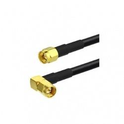 Cable coaxial faible perte SMA Male coudé et SMA droit