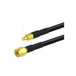 Cable coaxial 1 ou 5m SMA-Male MCX-Male 50 ohms Passion Radio MCX CABLE-COAXIAL-SMA-M-MCX-1M-306