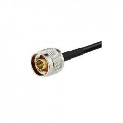 Cable coaxial N Male et bout nu Faible perte KSR195 Passion Radio Fiche N CABLE-COAXIAL-N-M-NU-970
