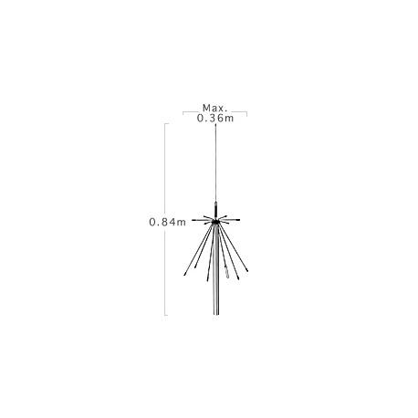 Antenne Discone fixe 100-1500Mhz Diamond D-190 + câble