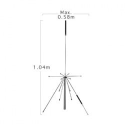Antenne super Discone Diamond D-150