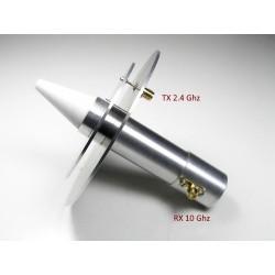 Antenne bi-bande 2.4 & 10 GHz pour Es'hail 2 / QO100 Satellite & QO-100 QO100-ANT-206914-DJ7GP-825