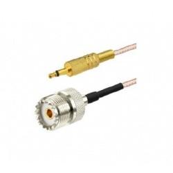 Pigtail mono Jack 3.5mm vers UHF Femelle (SO-239)