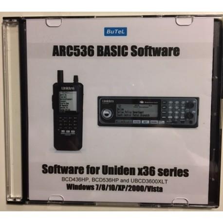 Logiciel ARC536 sur CD pour UNIDEN UBCD3600XLT SDS100E et SDS200E