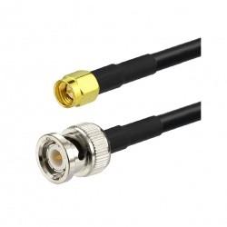 Cable coaxial RG58 avec BNC Male et SMA Male