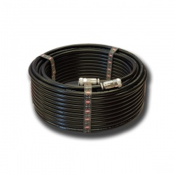 Câble coaxial M&P 10.3mm avec connecteur UHF-Male (PL-259) HYPERFLEX 10