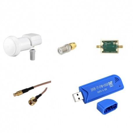 Pack RX SDR 10 Ghz Satellite Oscar-100 Passion Radio Satellite & QO-100 PACK-QO100-RX-829