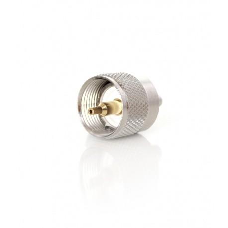 PL courte PL259 (UHF male) pour câble RG-58 - à sertir