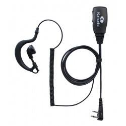 Micro-écouteurs compatible Kenwood Baofeng Wouxun 2 Pin