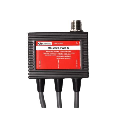 Triplexer 1,6 -60 / 110-170 / 350-570MHz avec câble