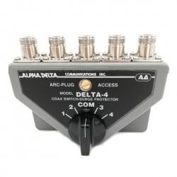 Commutateur d'antenne 4 positions avec N femelle ALPHA DELTA 4B-N