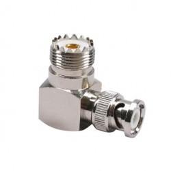 Adaptateur connecteur BNC Male vers UHF Femelle à angle droit