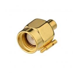 Adaptateur connecteur SMA Male pour câble semi-rigide RG405 de 2.18 mm