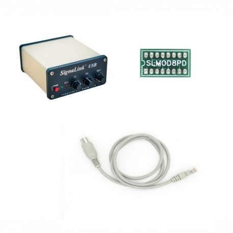 Pack Signalink-8PD pour ICOM,Ten-Tec prise DATA 8 broches mini-din