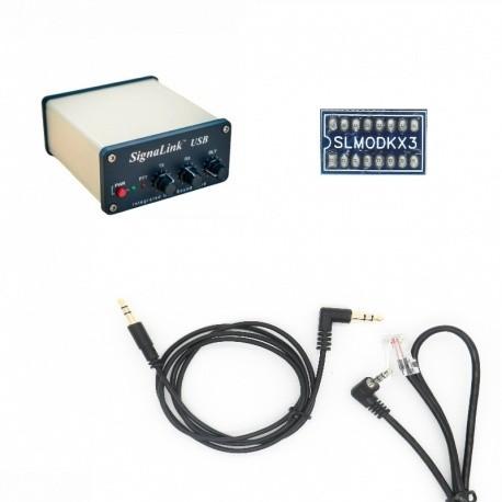 Pack Signalink-KX3 pour radio Elecraft avec prise micro KX3