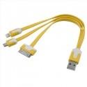 Câble USB téléphone 3 en 1