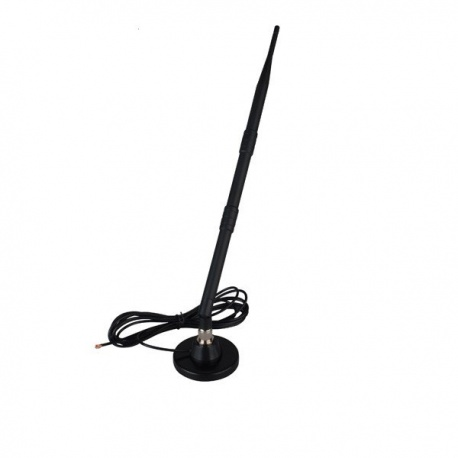 Antenne magnetique GSM 700-2600Mhz 9dbi Passion Radio Large-bande ANT-GSM-39CM-314